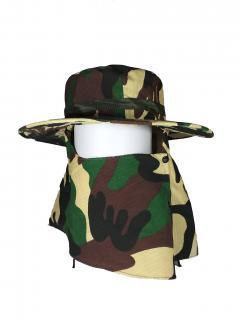 8881915004572 <br> (ใบ) หมวกคลุมหน้าลายทหาร